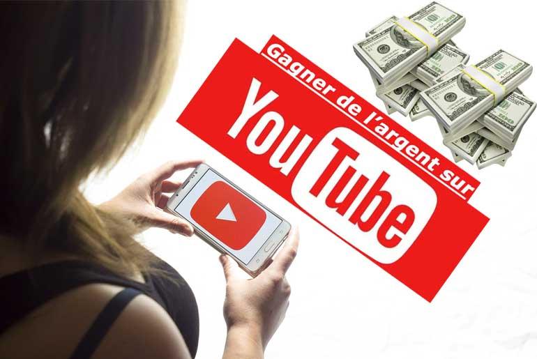 Gagner Argent sur youtube